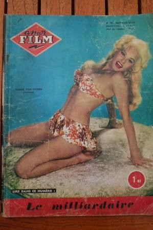 1961 Vintage Magazine Marilyn Monroe Mamie Van Doren