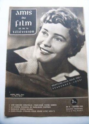 Vintage Magazine 1955 Maria Schell On Cover