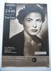 Vintage Magazine 1956 Ingrid Bergman On Cover
