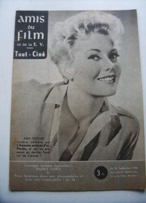 Vintage Magazine 1956 Kim Novak On Cover