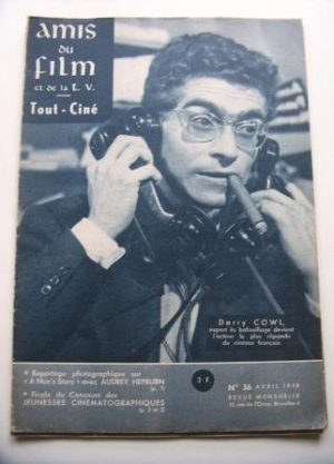 Vintage Magazine 1958 Darry Cowl On Cover