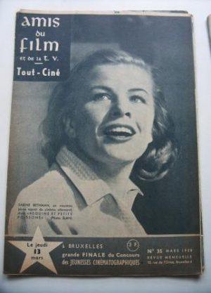Vintage Magazine 1958 Sabine Bethman On Cover