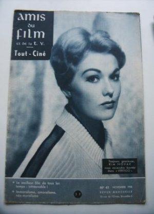 Vintage Magazine 1958 Kim Novak On Cover