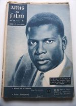 Vintage Magazine 1959 Sidney Poitier On Cover