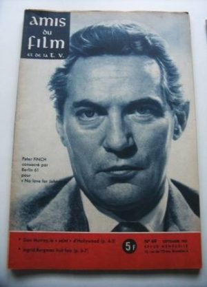 Vintage Magazine 1961 Peter Finch On Cover