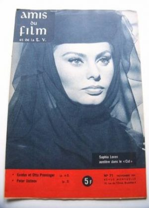 Vintage Magazine 1961 Sophia Loren On Cover
