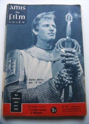 Vintage Magazine 1962 Charlton Heston On Cover