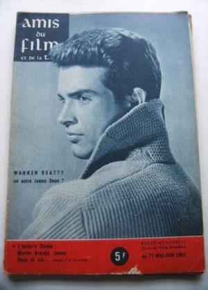 Vintage Magazine 1962 Warren Beatty On Cover