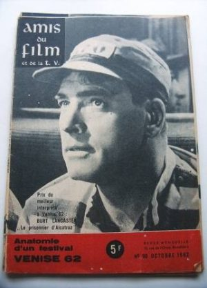Vintage Magazine 1962 Burt Lancaster On Cover