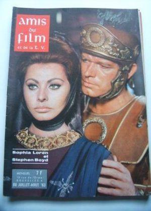 Vintage Magazine 1963 Sophia Loren Stephen Boyd Cover