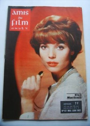 Vintage Magazine 1963 Elsa Martinelli On Cover