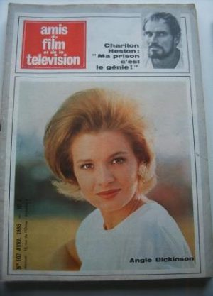Vintage Magazine 1965 Angie Dickinson On Cover