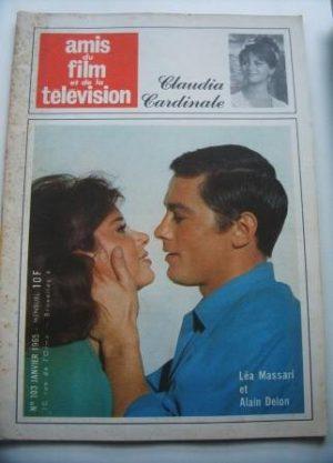Vintage Magazine 1965 Alain Delon Lea Massari On Cover
