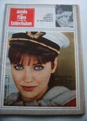 Vintage Magazine 1966 Anna Karina Godard On Cover