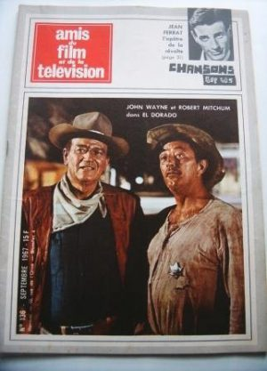 Vintage Mag 1967 John Wayne Robert Mitchum On Cover