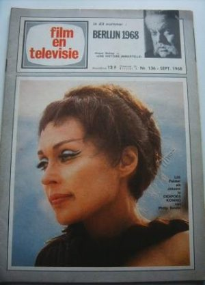 Vintage Magazine 1968 Lilli Palmer On Cover
