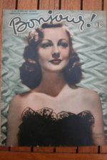 1939 Vintage Magazine Virginia Grey On Front Cover