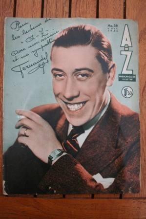 1936 Vintage Magazine Fernandel On Front Cover