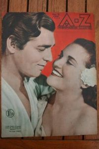1936 Vintage Magazine Clark Gable Bounty On Front Cover