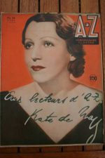 1935 Vintage Magazine Kate De Naguy On Front Cover