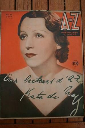 1935 Vintage Magazine Kate De Naguy On Front Cover