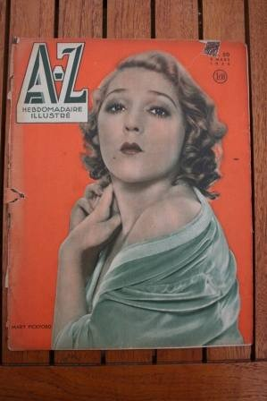 1935 Vintage Magazine Mary Pickford On Front Cover