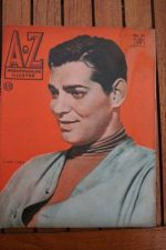 1934 Vintage Magazine Clark Gable On Front Cover