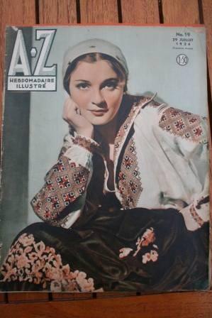 1934 Vintage Magazine Anna Sten On Front Cover