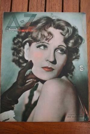 1932 Vintage Magazine Juliette Compton On Front Cover