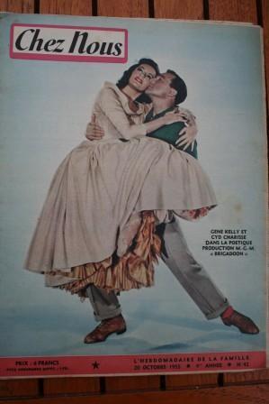 1955 Magazine Cyd Charisse Gene Kelly Suzan Ball