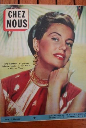 1957 Vintage Magazine Cyd Charisse