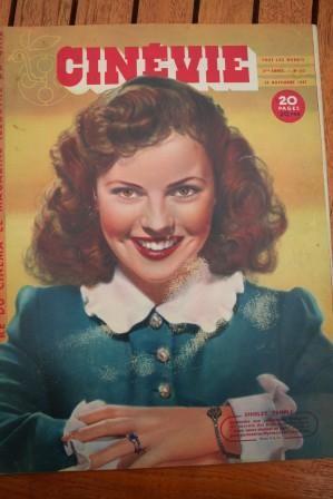 1947 Shirley Temple Joan Fulton Ann Sheridan Cary Grant