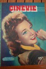 1947 Magazine Micheline Presle Paulette Goddard