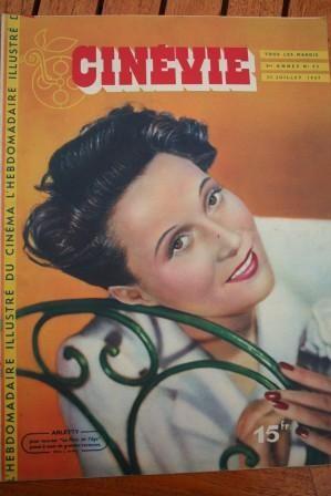 1947 Original Magazine Arletty Faith Domergue