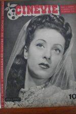 1946 Vintage Magazine Danielle Darrieux Martha Vickers