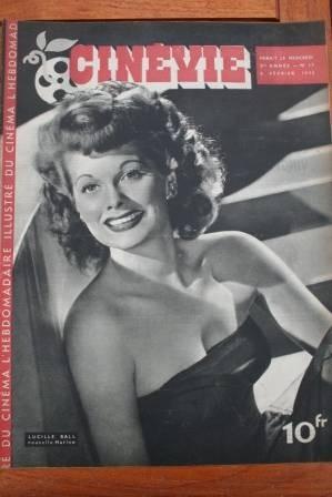 1946 Vintage Magazine Lucille Ball Marlene Dietrich