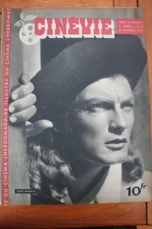 1945 Vintage Magazine Jean Marais Sheila Ryan
