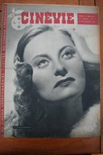 1945 Vintage Magazine Michele Morgan Greta Garbo
