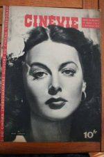 1945 Vintage Magazine Hedy Lamarr