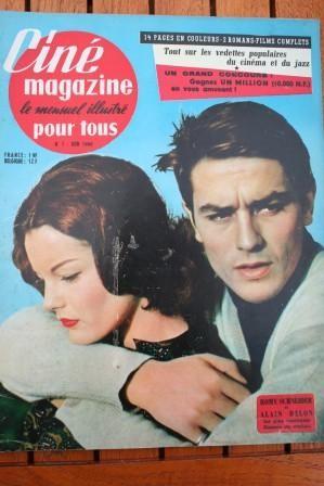 1960 Romy Schneider Alain Delon Sandra Dee Alan Ladd