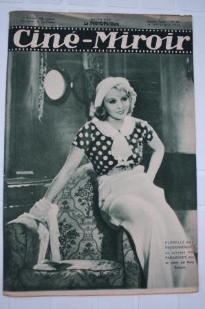 Orig. 1932 Scarface Paul Muni Marlene Dietrich Florelle