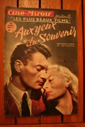 1949 Jean Marais Michele Morgan Aux Yeux Du Souvenir