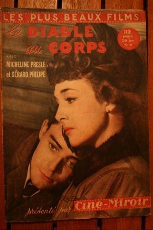 1949 Gerard Philipe Micheline Presle Le Diable Au Corps