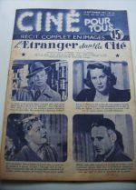 1951 Joseph Cotten Alida Valli Walk Softly, Stranger