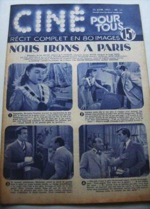 51 Philippe Lemaire Francoise Arnoul Nous Irons A Paris