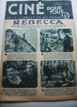 Original 1951 Joan Fontaine George Sanders Rebecca