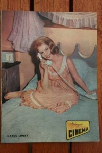 1966 Vintage Magazine Carol Lynley On Front Cover