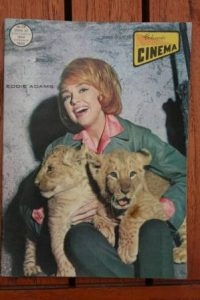 1966 Vintage Magazine Edie Adams On Front Cover