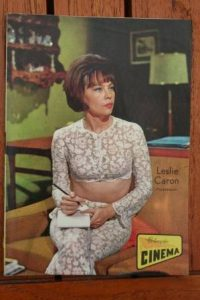 1966 Vintage Magazine Leslie Caron On Front Cover