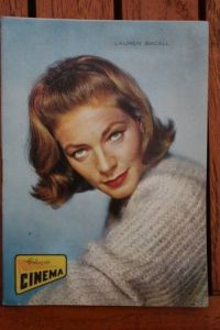 1965 Vintage Magazine Lauren Bacall On Front Cover